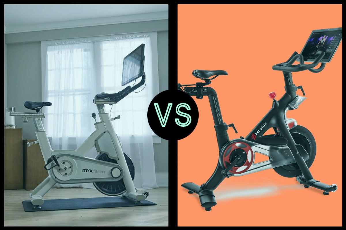 myxfitness exercise bike and peloton head-to-head