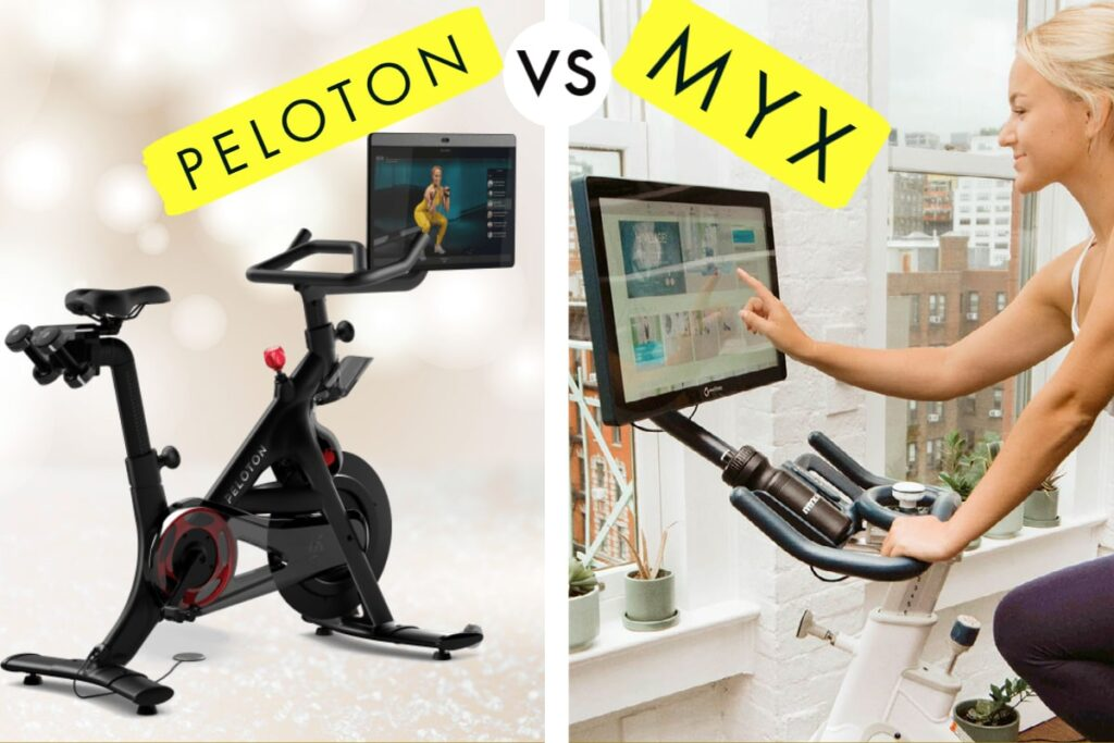 comparing peloton versus myx fitness bike