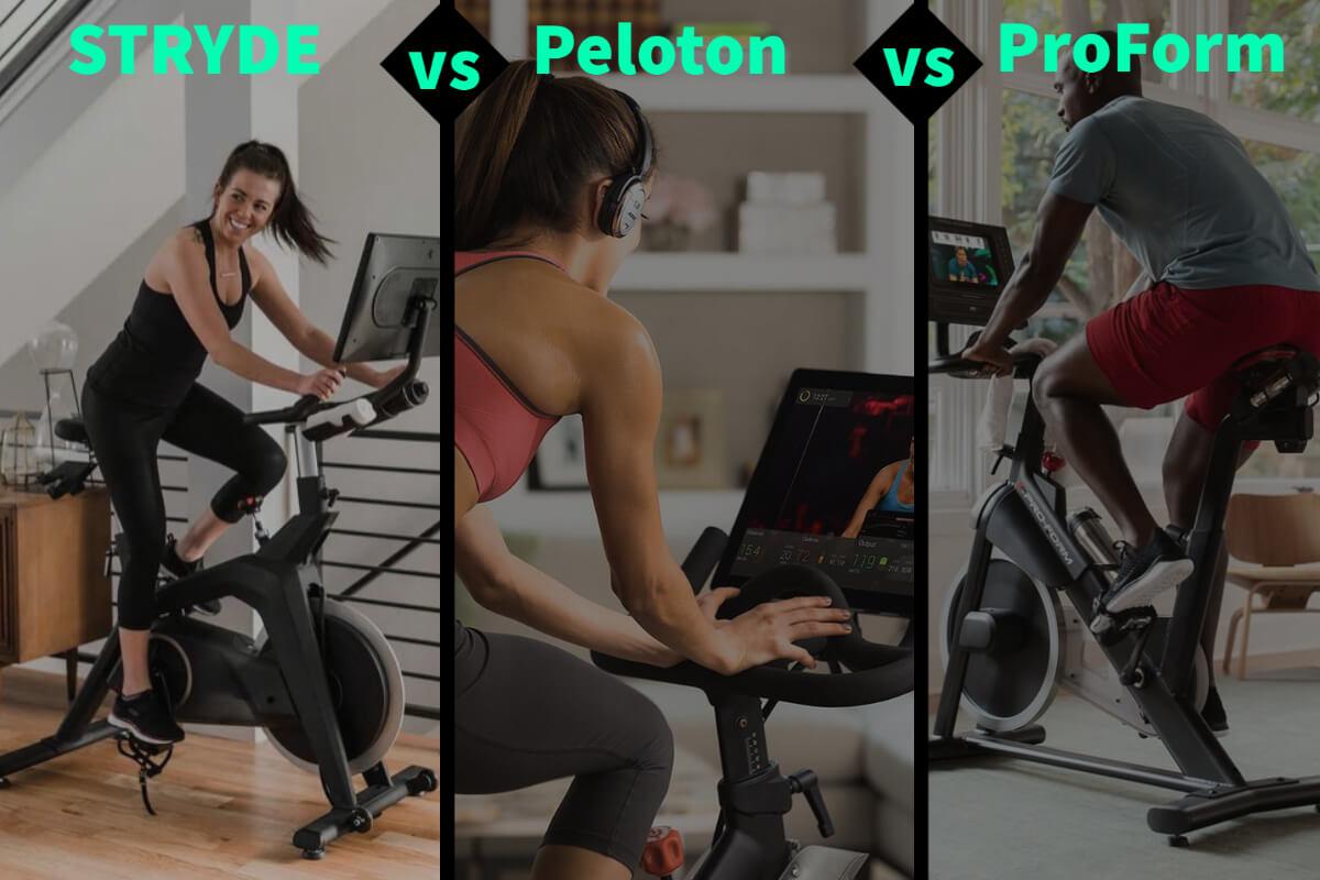 comparing stryde vs. peloton vs. proform article